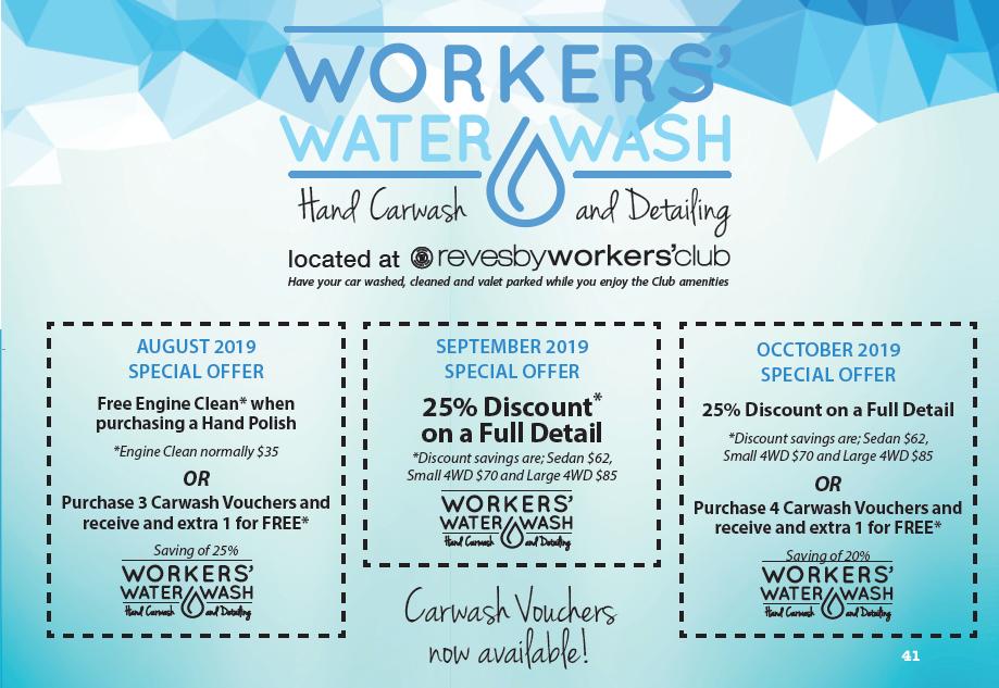 Workers Water Wash Revesby Workers Club